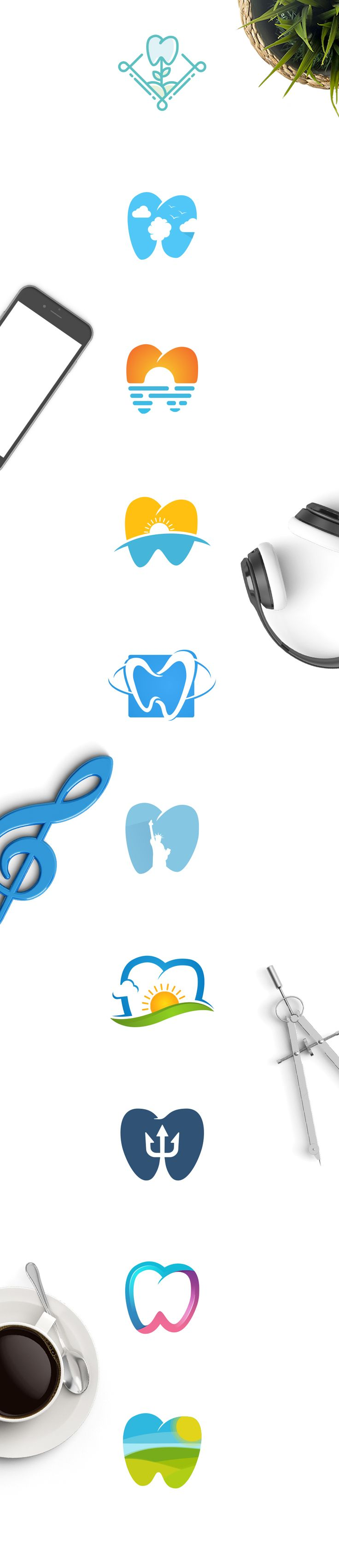 You can own one of these brilliant light bulb logo designs right now. Only on creative market! Hurry up before they're sold! #logo #concept #vector #symbol #icon #company #business #design #creative   #care #clean #tooth #clinic #creative #dentist #dentisery #doctor #gradient #health #healthy #hygiene #implant #medical #medicine #mouth #oral #shape #protection #smile #wave #white #blue
