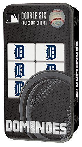 MLB Detroit Tigers Masterpiece Dominoes Detroit Lions, One Size, Black