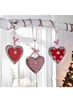 Függődísz dekoráció Szív (3-részes)-bpc living