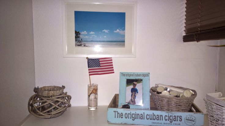 "was ""backsteln"" wir denn heute? USA decor Beach Sanibel Island 1.Mai Feiertag flag wood box"