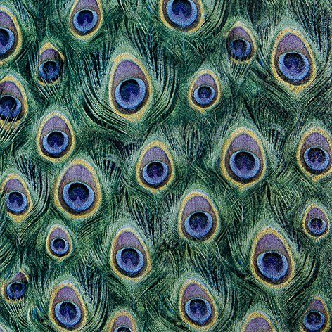 120 Paper Napkins Peacock Feathers 33 X 33 Cm 3 Ply Gas