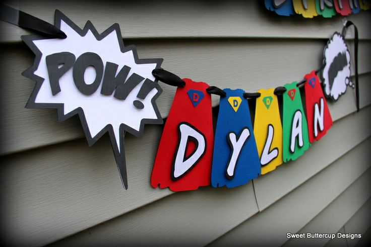 Superhero Party Banner — Sweet Buttercup Designs