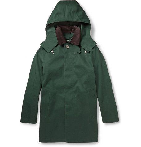 Macintosh green dunoon handmade rain coat