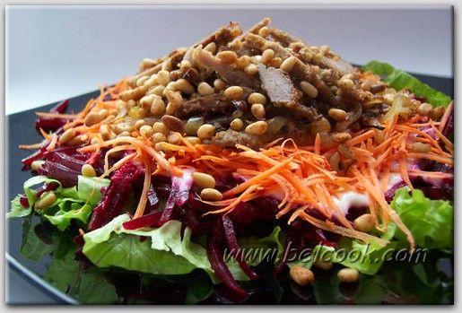 Салат из свеклы с картошкой и курицей