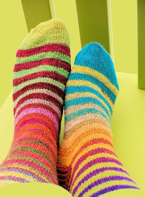 I so ♥ striped socks!