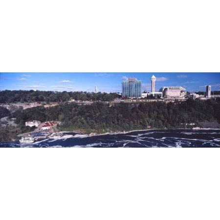 Hotels in a city from Niagara Falls Ontario Canada Canvas Art - Panoramic Images (36 x 12)