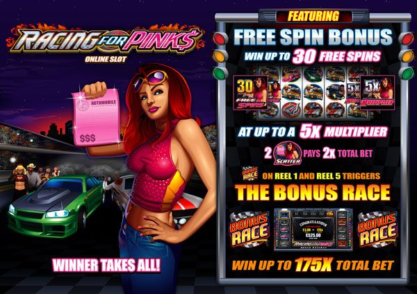 Racing for Pinks online slot game - launches in November at Royal Vegas Casino