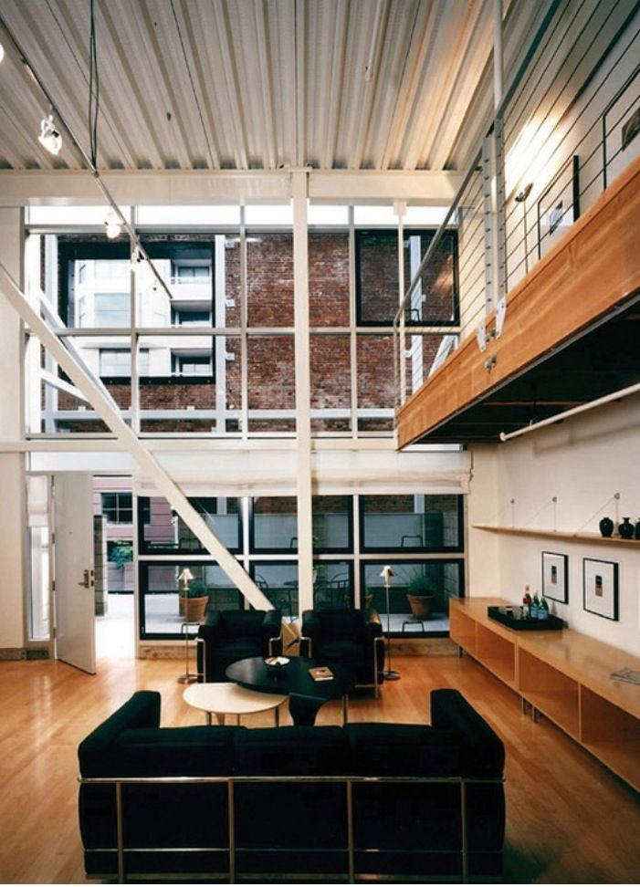Industrial Loft Conversion floor to ceiling
