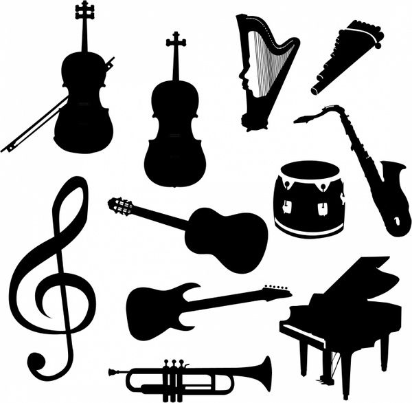 Related Image Music Silhouette Music Clipart Vector Free