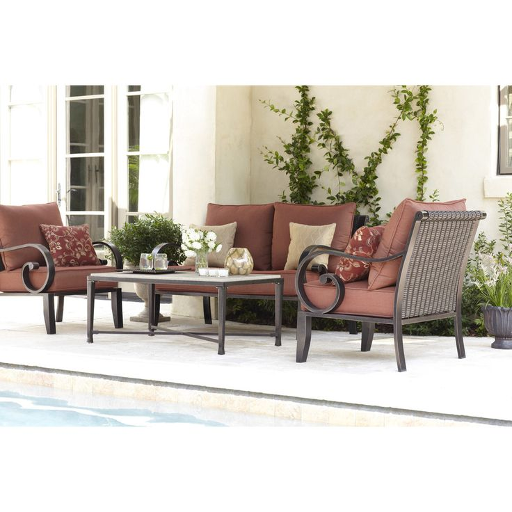 shop allen roth 2 piece pardini patio loveseat and coffee table set at lowes
