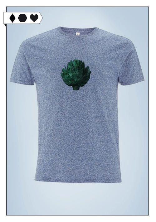 Artichoke Tee (Ultra Tee): 100% Organic Cotton. Männer T-Shirt, das aber oversized bei Frauen auch toll aussieht… ;-) VEGAN/ECO/SOCIAL/*39€+Versand* →