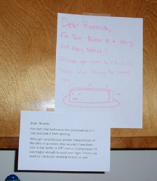 HRN(Hysterical Roommate Notes), this is tooooo funny:)