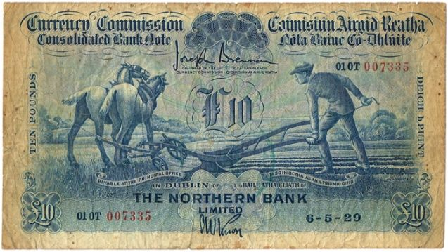 £10 ploughman banknote, Northern Bank