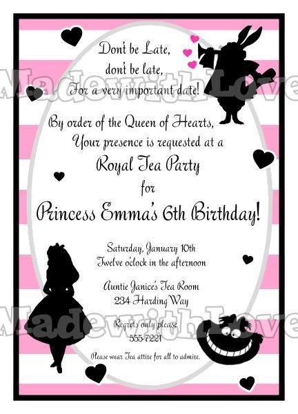 *Unique Alice in Wonderland Birthday Bridal Invitations in Greeting Cards & Invitations | eBay