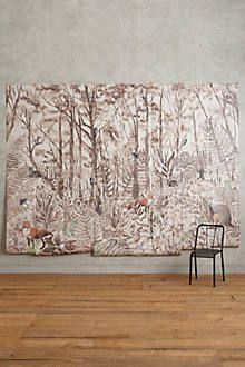 Murals wallpapers and forest wallpaper on pinterest for Anthropologie wallpaper mural