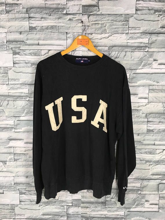 3d66b10ec Vintage 90s Polo RALPH LAUREN Sweater Jumper Large Polo USA Spell ...