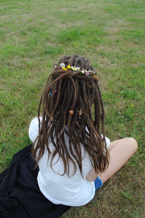 Flower child! #hippe #dreadlocks