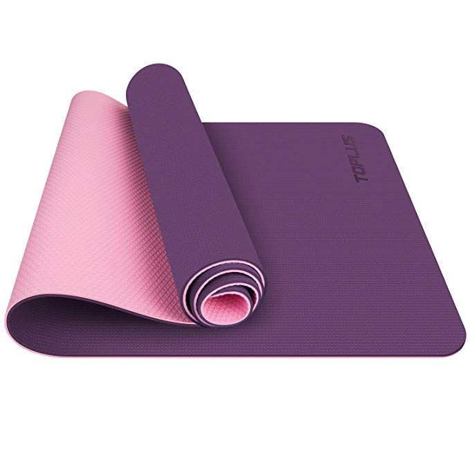 Toplus Yoga Mat Upgraded Non Slip Texture 1 4 Inch Pro Yoga Mat Tpe Eco Friendly Exercise Workout Mat With Car Floor Workouts Mat Exercises Yoga For Elderly