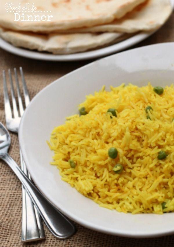 Basmati Rice with Turmeric and Peas