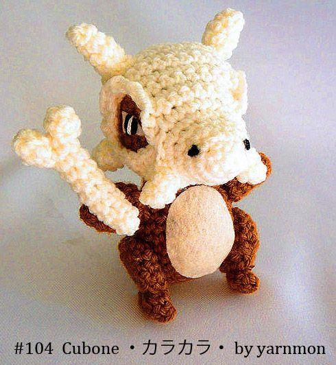 Cubone Pokemon Amigurumi by yarnmon.deviantart.com