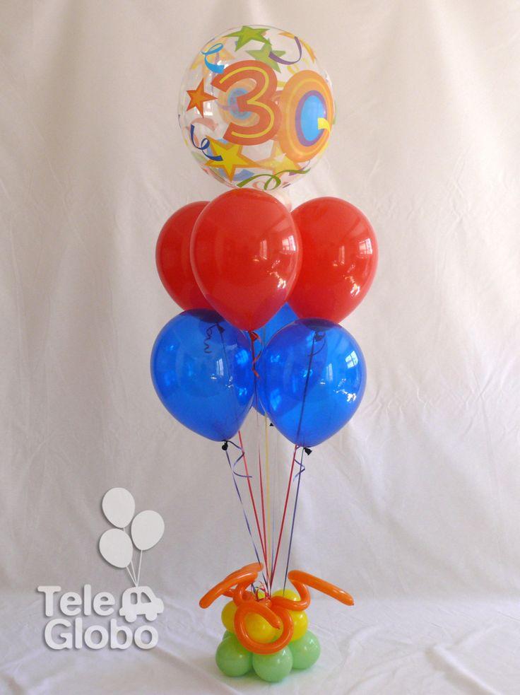 Ramo de globos Feliz 30 cumpleaños