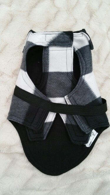 Black and white check cashmere coat