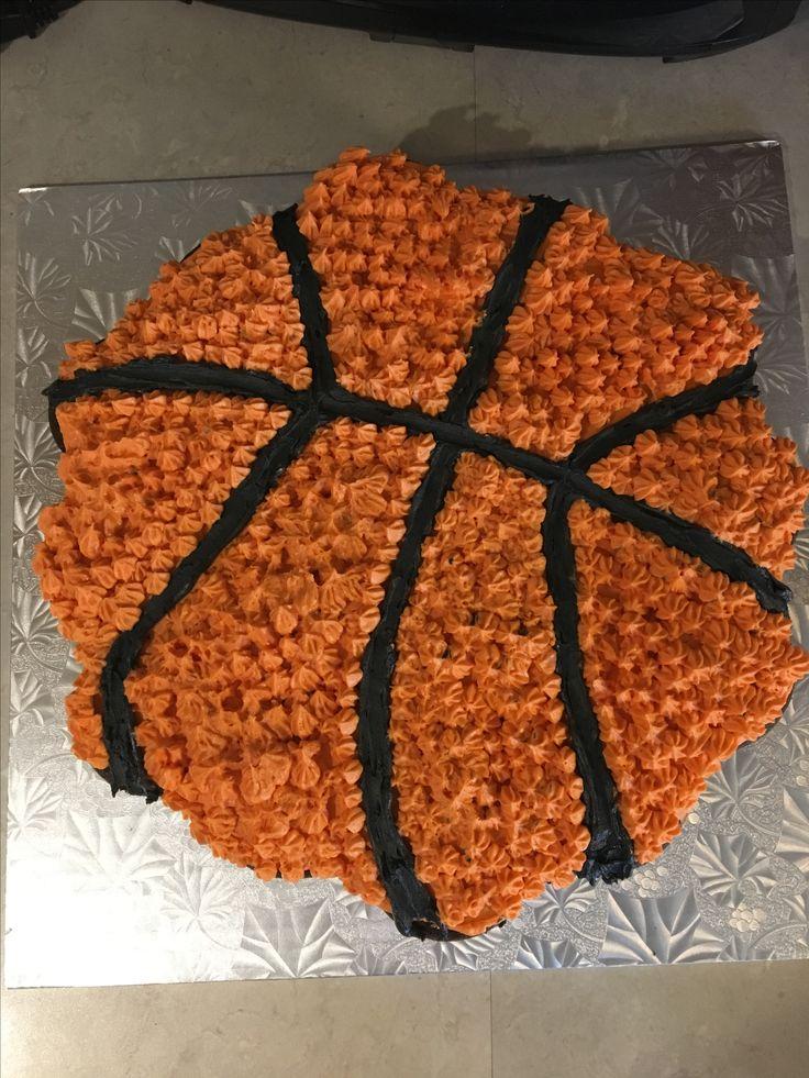 Pull-apart cupcakes. Basketball