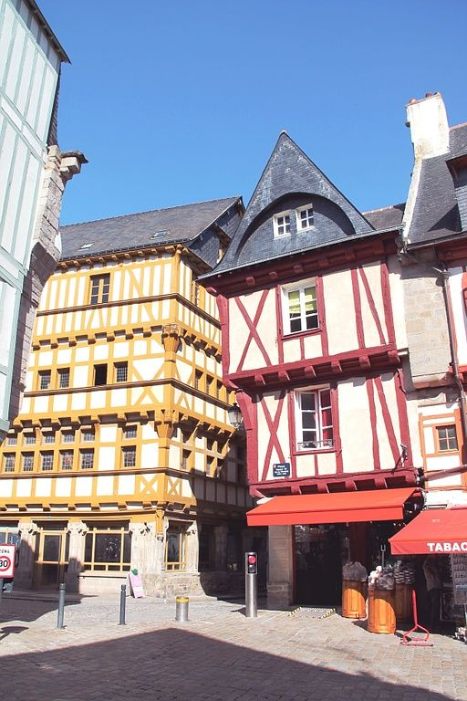 Rue médiévale de Vannes, Camping Bihan, Damgan, Morbihan, Bretagne Sud