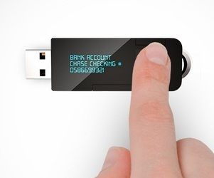 myIDkey is a smart pendrive that can remember all your passwords. It also includes a OLED display, fingerprint scanner and voice search.