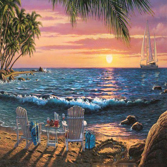 Media Cache Pinterest gifs   ısıklı dağ deniz gif resimleri, hareketli su dalgalı manzara gif ...