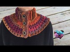 Chauffe épaules femme: tutoriel au crochet, gratuit présenté par Lidia Crochet Tricot