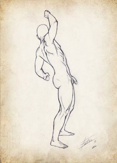 Flexing man