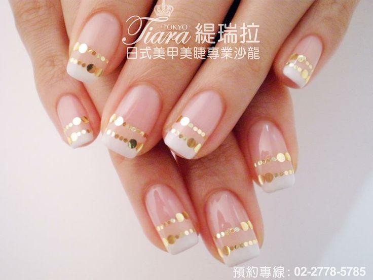 elegant french nail art nails