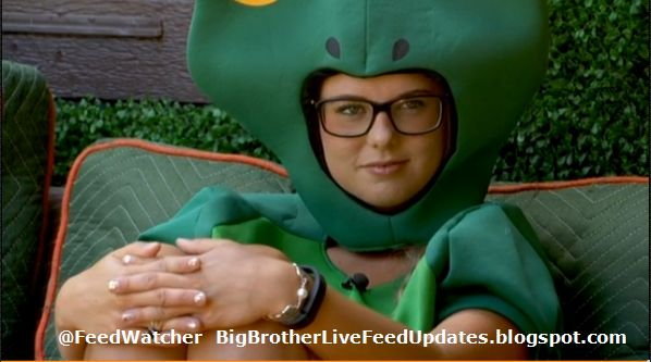 Big Brother USA Live Feed Updates: It's Not Easy Being Green #BB16===Hayden brings up the rumor that Zach likes Nicole, and Nicole sounds like she may not believe it. After Hayden went inside Donny brought it up again. Donny:  So, Zach likes ya? Nicole:  Yeah....I guess. Donny:  You could get to meet Amanda Zuckerman! (Donny is trying to complete the Team America challenge.)