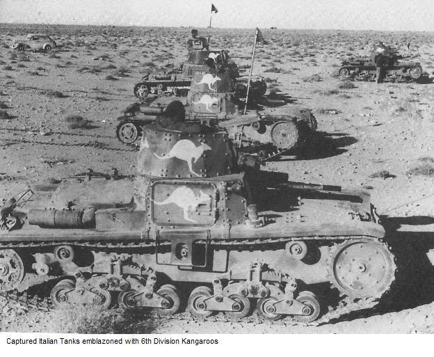 Aussie-liberated Italian tanks