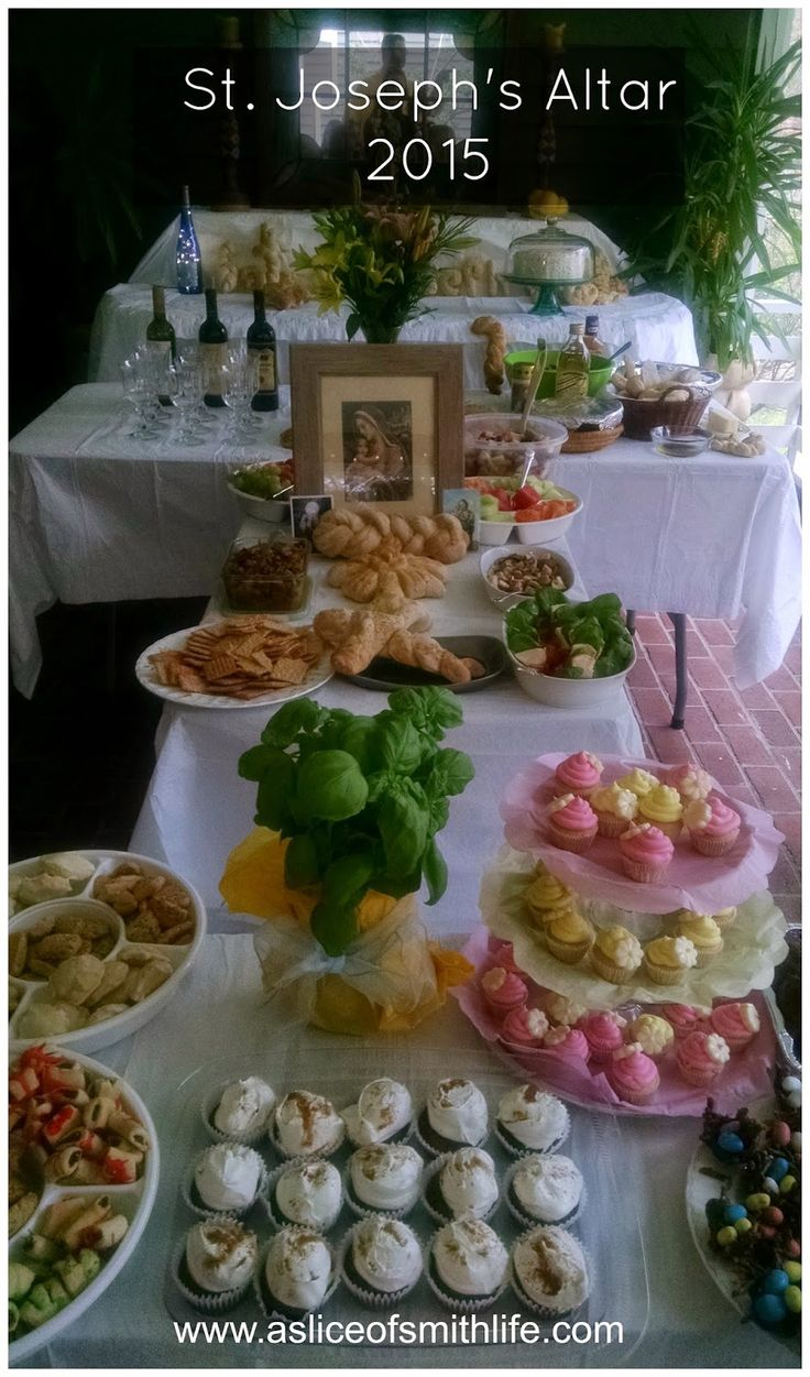 A Slice of Smith Life: St. Joseph Altar and Feast Day Celebration: 2015