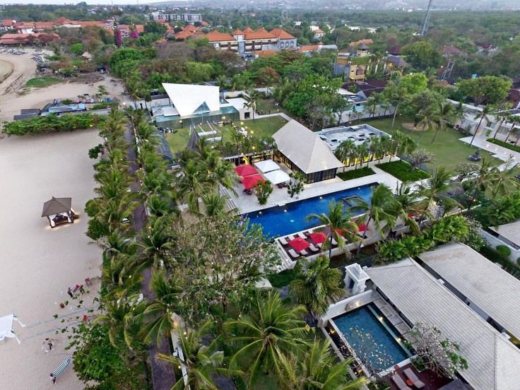 Bird View of The Royal Santrian Luxury Beach Villa  Book your Bali Accomodation with us at www.theroyalsantrian.com email. : reservation@theroyalsantrian.com  Luxury Beach Villa, Tanjung Benoa Bali,Indonesia