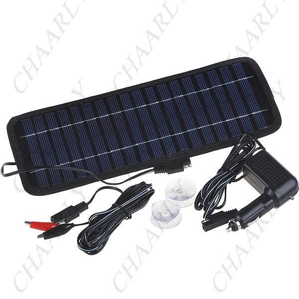Aa Solar Panel Car And Caravan Battery Trickle Charger