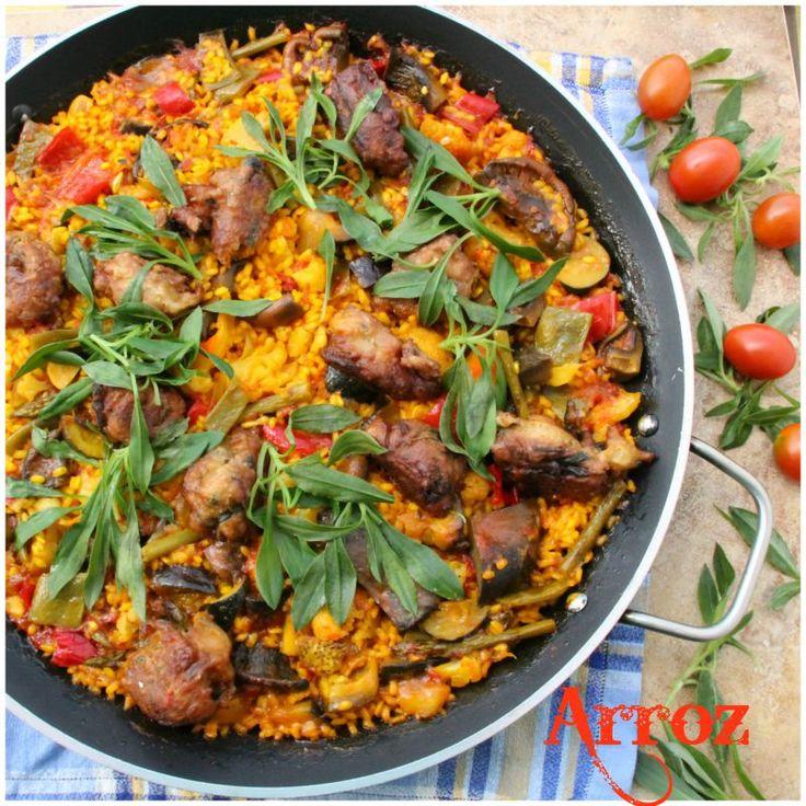 la comida de hoy un arroz con verduras y alb ndigas de