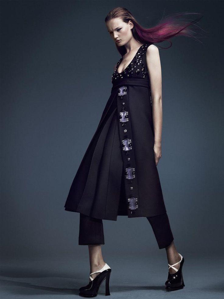love this and love those shoes. Kirsi Pyrhonen Gets Embellished in Elle Sweden October 2012