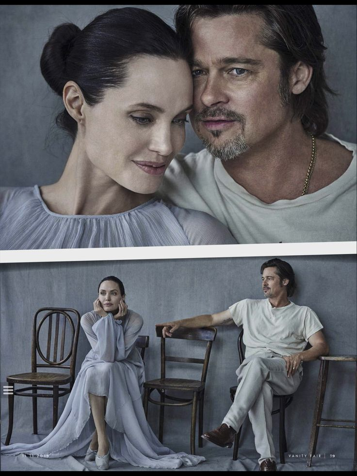 Brad Pitt and Angelina Jolie on the November 11, 2015 issue of Vanity Fair Italia.