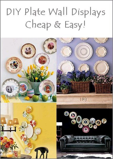 Plate wall displays