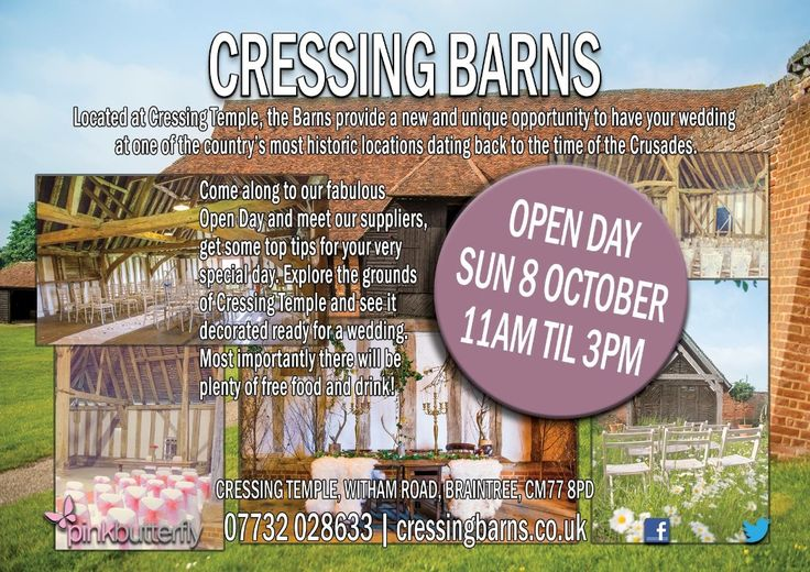 @BarnsCressing This weekend, Cressing Temple Barns, Witham Road, Witham, CM77 8PD. Free entry, Wonderful venue.