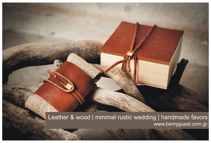winter wedding ideas | wedding favors | wooden boxes with real leather and little golden details | elegant & bold | www.bemyguest.com.gr