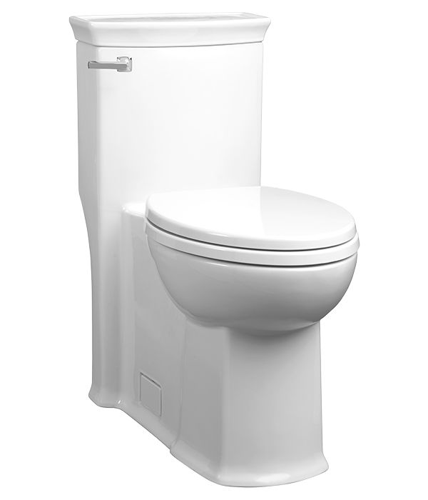 Inspired by industrial design with simplified geometries and the architectural style of the English Pantheon Theatre the Wyatt One-Piece Elongated Toilet from DXV  is a luxurious addition to the bathroom. $910 estimated price