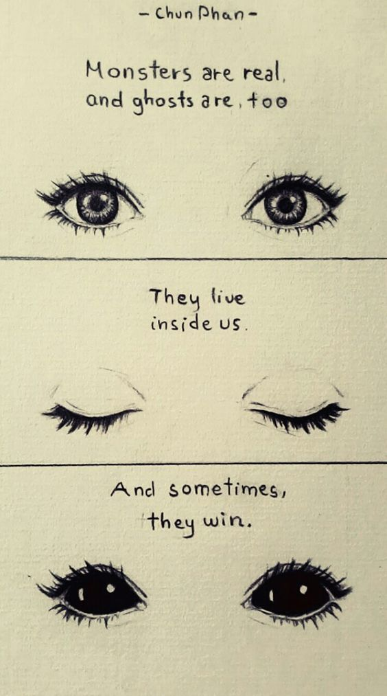 drawing eyes quotes creepy Sketch monster ghost Stephen King pencil drawing: