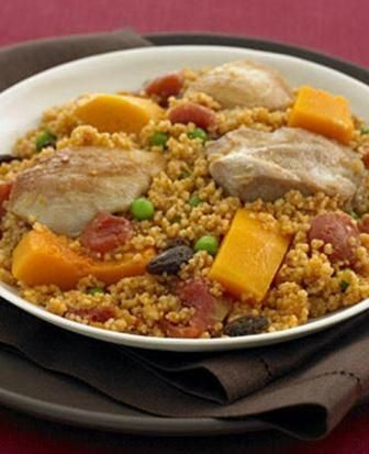 Traditional Algerian Chicken Couscous