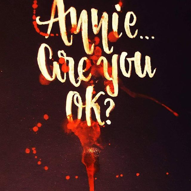 Are you ok, Annie? #smoothcriminal #Lyrics #brush #calligraphy #michaeljackson #annie #halloween #blood #lettering #watercolor #acuarela #Caligrafía #brushlettering #handlettering