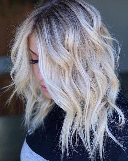 Flattering Shoulder Length Wavy Hairstyles for Women, Female Medium Haircuts #Sh…