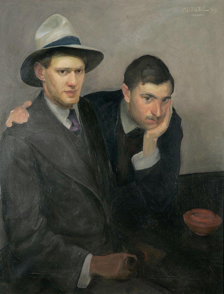 Autoritratto con l'amico Olszewski / Miroslav Kraljević, 1909